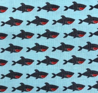 Hajar vävt bomullstyg - Hajar