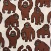 Lilla Gorillan vävt tyg - Gorilla