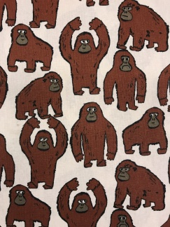 Lilla Gorillan vävt tyg -