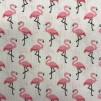 Liten rosa flamingo vävt bomullstyg - Liten rosa flamingo