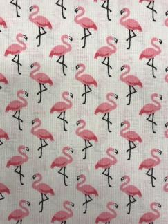 Liten rosa flamingo vävt bomullstyg -