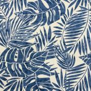 Djungelblad blå bomull