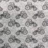 Liten traktor grå bomullstrikå