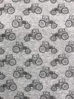 Liten traktor grå bomullstrikå -