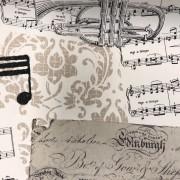Musik vävt tyg