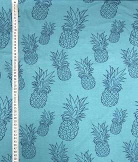 Blå ananas trikå -