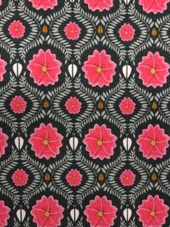Rosa blomma bomullstrikå -