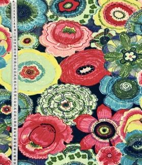 Blommor blommor bomullstrikå -