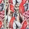 Rosa blad vävt tyg