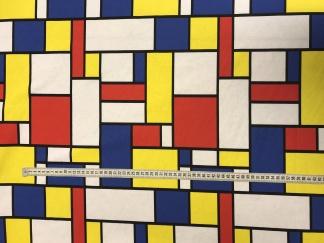 New Mondrian vävt tyg -