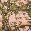 Rosa djungel leopard vävd bomull - Rosa djungel leopard