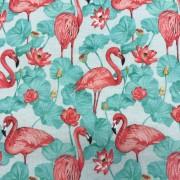 Flamingo turkos bomullstrikå