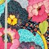 Fantasi stor blomma på vävt tyg