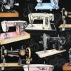 Gamla symaskiner vävt bomullstyg