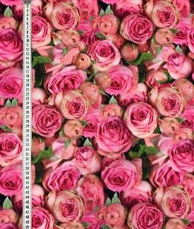 Ljuva rosor stor vävt bomullstyg -