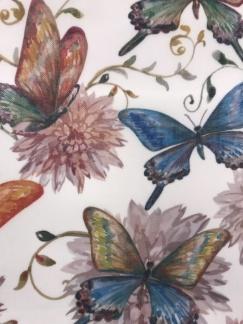 Ljuva fjärilar vävt tyg -
