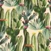 Kaktus akvarell vävt tyg