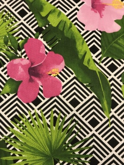 Hibiskus vävt bomullstyg - Hibiskus blomma