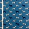 Blå zebra trikåtyg - Zebra