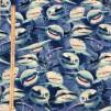 Hajar bomullstyg blå