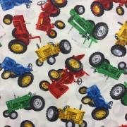 Färgglada Traktorer bomullstyg