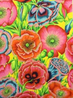 Anemon bomullstyg gult -
