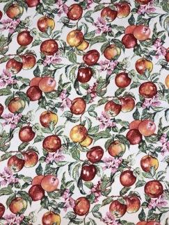 Äppelblom bomullstyg -