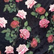 Rosentagg krossad sammet