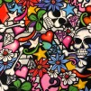 Graffiti- bomullstyg
