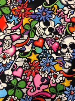 Graffiti- bomullstyg -