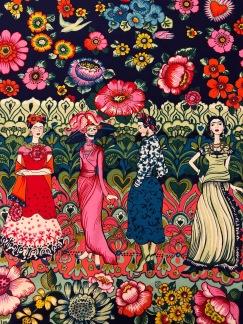 Frida Kahlo bomullstyg -