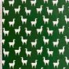 Grön lama- trikåtyg