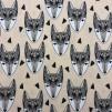 Grafisk räv- bomullstrikå - Grafisk räv trikå