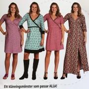 Sy enkelt i trikå klänning Viola
