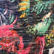 Akvarell stickat tyg