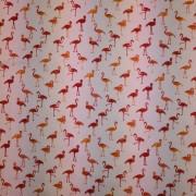 Flamingos rosa bommulstrikå