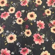 Blommor på jeansbotten