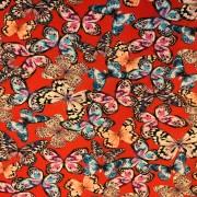 Fjärilar på röd botten trikå