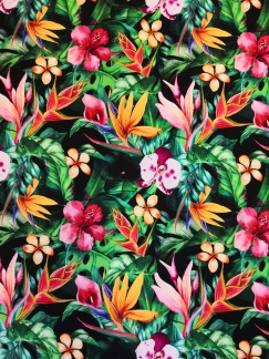 Tropiska blommor trikå - Tropiska blommor