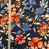 Blomster på blå botten