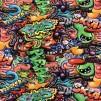 Graffiti monster bomullstrikå - Grafitti monster