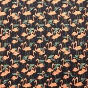 Flamingos vadar bomullstyg