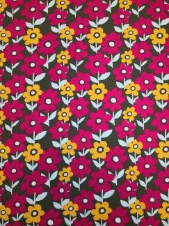 Blommor på äng trikåtyg - Blommor på äng trikåtyg