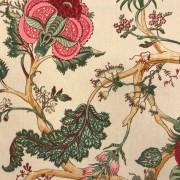 Romantik blomma beige vävt tyg