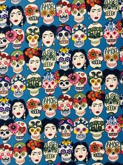 Frida och skallarna bomullstyg -