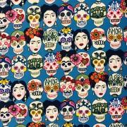 Frida och skallarna bomullstyg