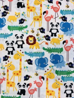 Exotiska djur bomullstyg - Exotiska djur bomullstyg