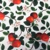 Äppelkvist vit- bomullstyg