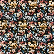 Musse och Mimmi polaroidfoto- bomullstrikå