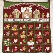 Julkalender röd